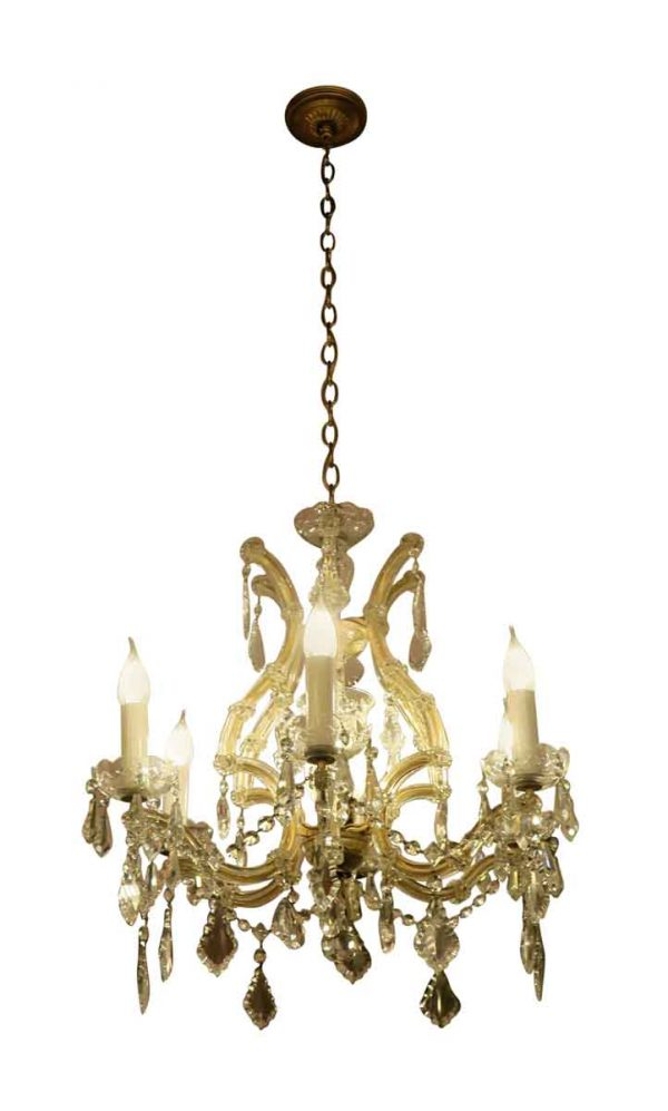 Chandeliers - 23 in. Marie Therese Six Arm Crystal Chandelier