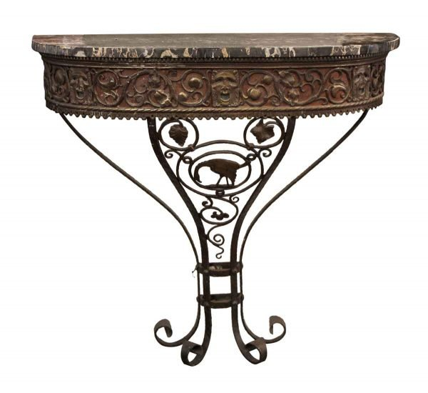 Entry Way - Oscar Bach Bronze Iron & Marble Console Table