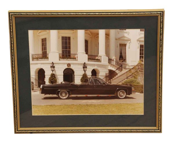 Photographs - Famed Photo of South Side of the White House with State Convertible