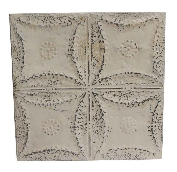 Tin Panels - Quadrant Floral White Tin Panel