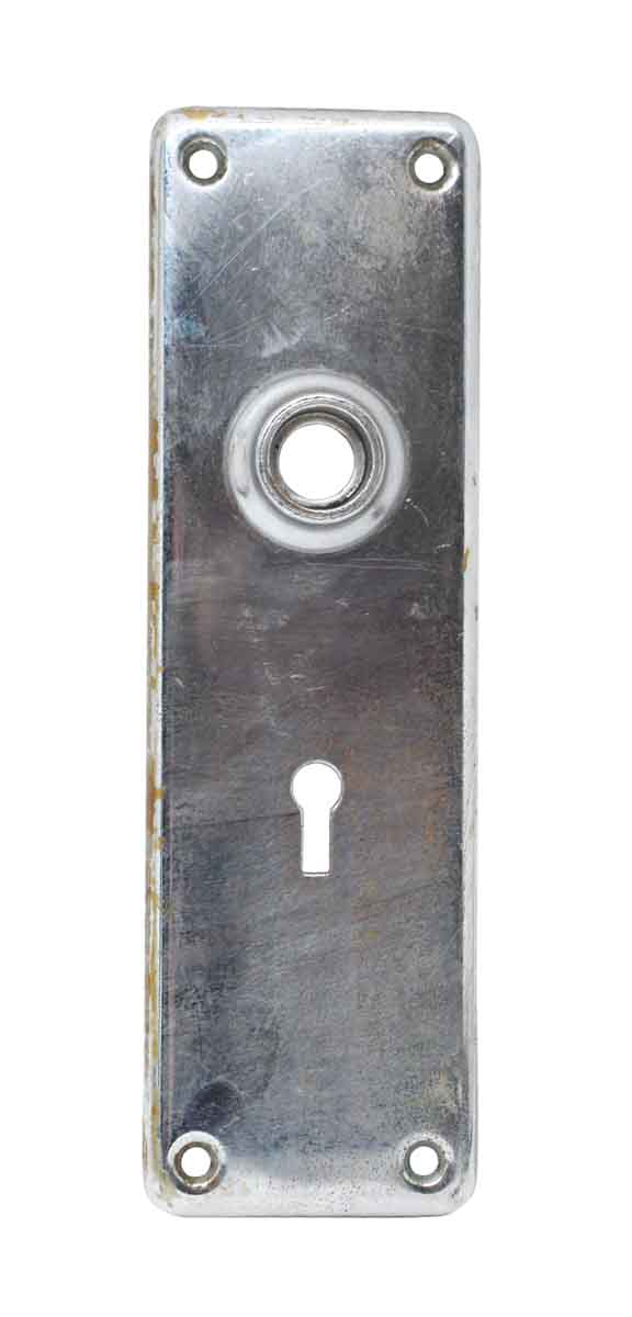 Back Plates - Chrome Over Brass Keyhole Door Back Plate