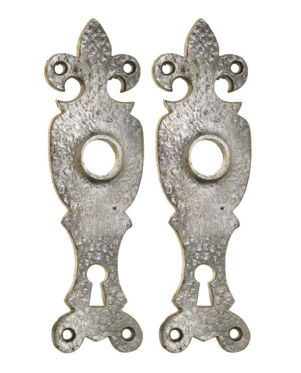 Back Plates - Silver Plated Arts & Crafts Iron Back Plates