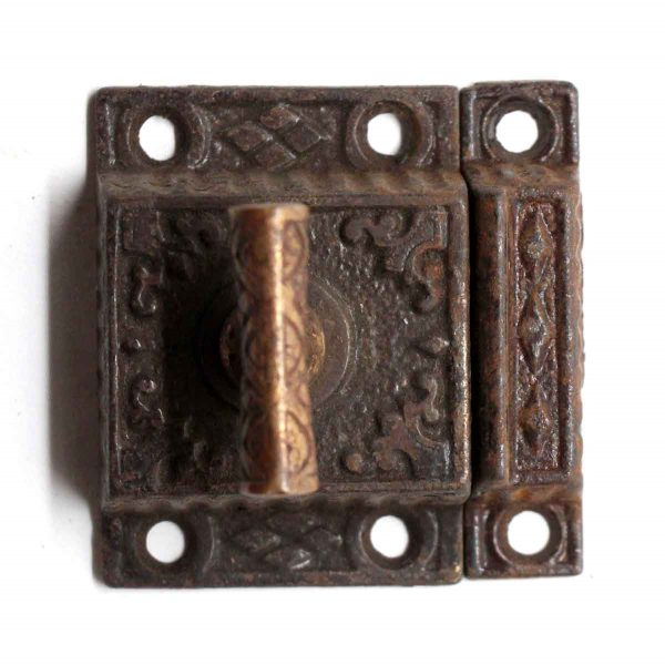 Cabinet & Furniture Latches - Cast Iron Cabinet Latch with Bronze T Handle