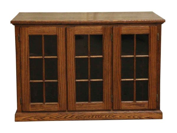 Cabinets - Oak Wine Cabinet with Glass Doors