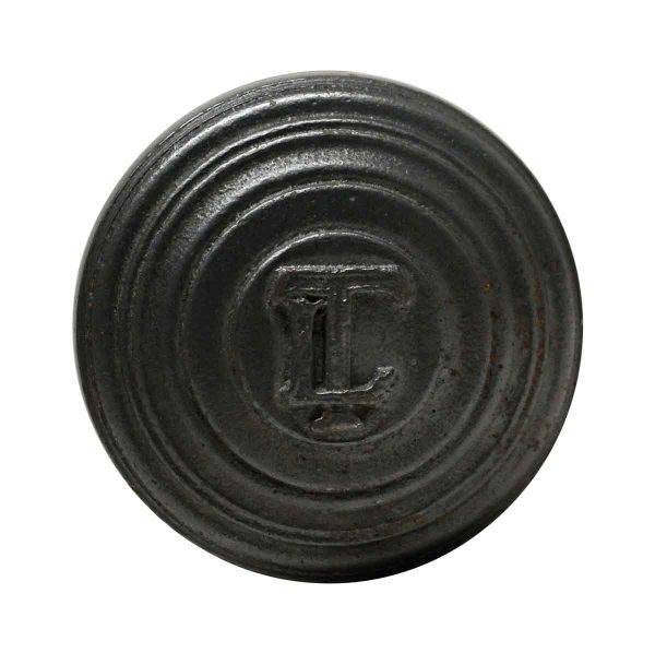 Door Knobs - Iron LT Emblematic Black Iron Door Knob