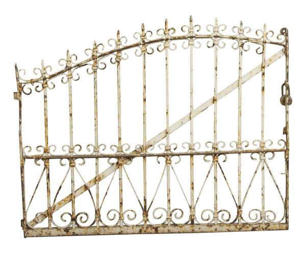 Gates - Gradual Arch White Iron Gate