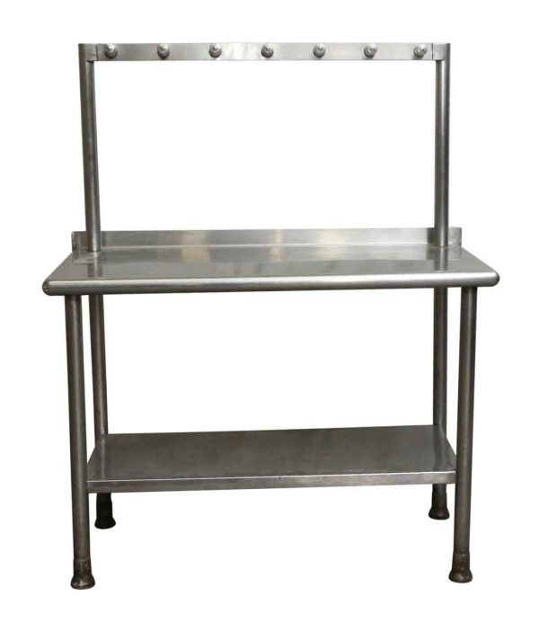 Kitchen - Commercial Stainless Steel Kitchen Table with Hanging Rack