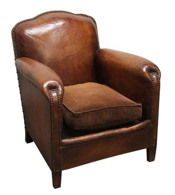 Living Room - European Single Vintage Leather Club Chair