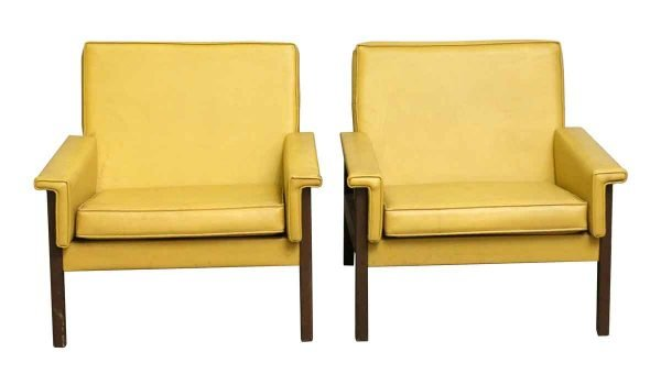 Living Room - Yellow Mid Century Pair of Chairs
