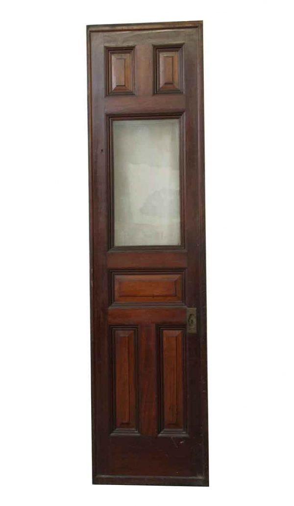 Pocket Doors - 6 Panel Wood & Glass Pocket Door with Rollers