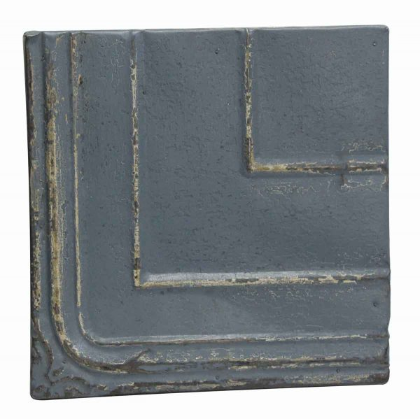 Tin Panels - Blue Antique Corner Tin Panel