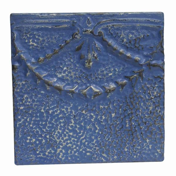 Tin Panels - Bright Blue Decorative Antique Tin Panel