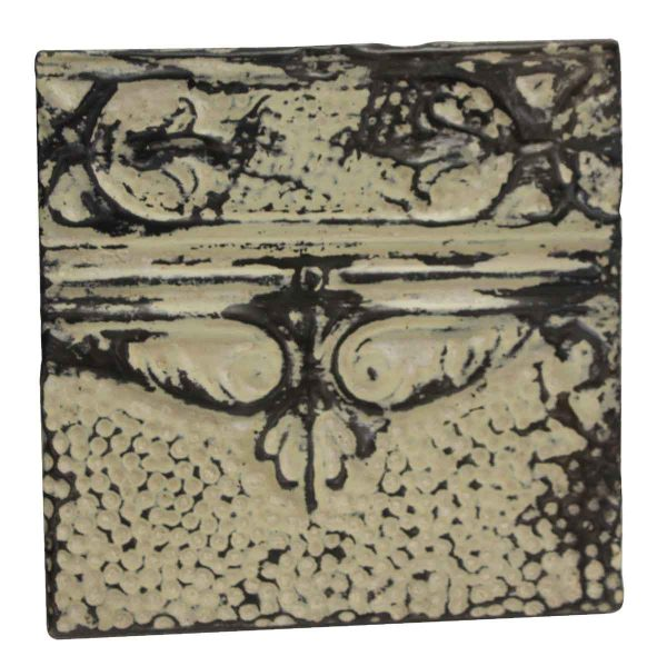 Tin Panels - Cream & Black Antique Tin Panel