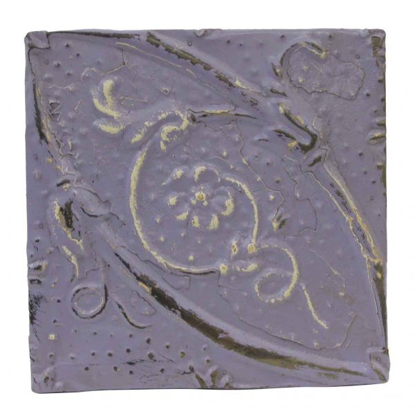 Tin Panels - Floral Lilac Antique Tin Panel