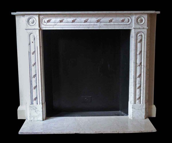 Waldorf Astoria - Waldorf Astoria English Regency White Carrara Marble Mantel