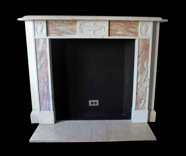 Waldorf Astoria - Waldorf Astoria Georgian White & Pink Marble Mantel