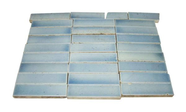 Wall Tiles - Antique 4.25 in. Blue Crackle Hearth Tiles