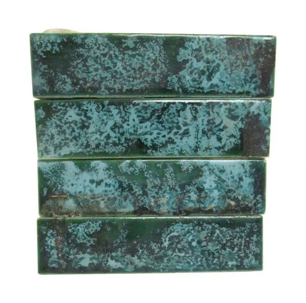 Wall Tiles - Antique Green & Blue Mixed 4.25 in. Tile Set