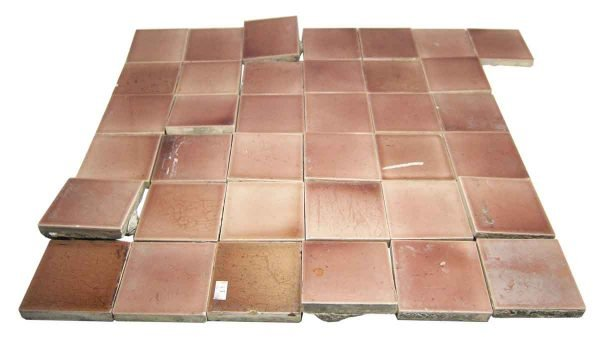Wall Tiles - Antique Pink Square 3 in. Square Tile Set