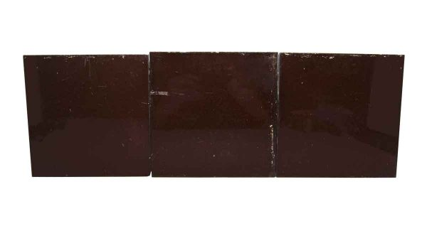 Wall Tiles - Antique Shiny Brown 6 in. Square Tile Set