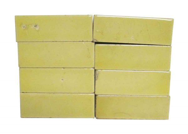 Wall Tiles - Antique Small Yellow Crackled 3 in. Tile Set