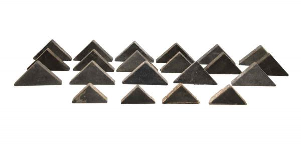 Wall Tiles - Set of 21 Black Matte Triangle Tiles