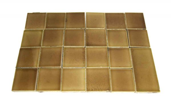 Wall Tiles - Set of 23 2.25 in. Square Tan Crackled Tiles