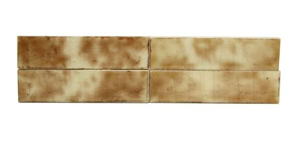 Wall Tiles - Set of 4.25 in. Brown & White Mixed Tiles