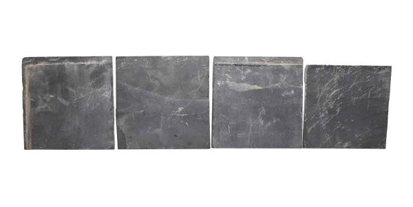 Wall Tiles - Set of Seven Slate Matte Black 6 in. Square Tiles
