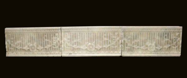 Wall Tiles - Set of Three Floral 6 in. Off White Tiles