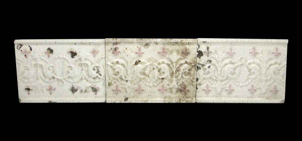 Wall Tiles - Set of Three White 6 in. Decorative Tiles