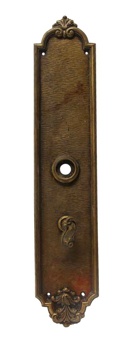 Back Plates - 14.5 in. Cast Brass French Turn Latch Door Back Plate