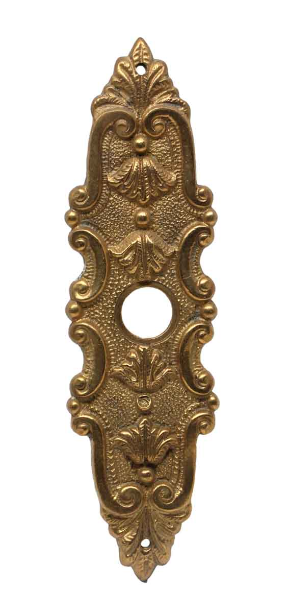 Back Plates - 6.75 in. Polished Cast Brass French Door Back Plate