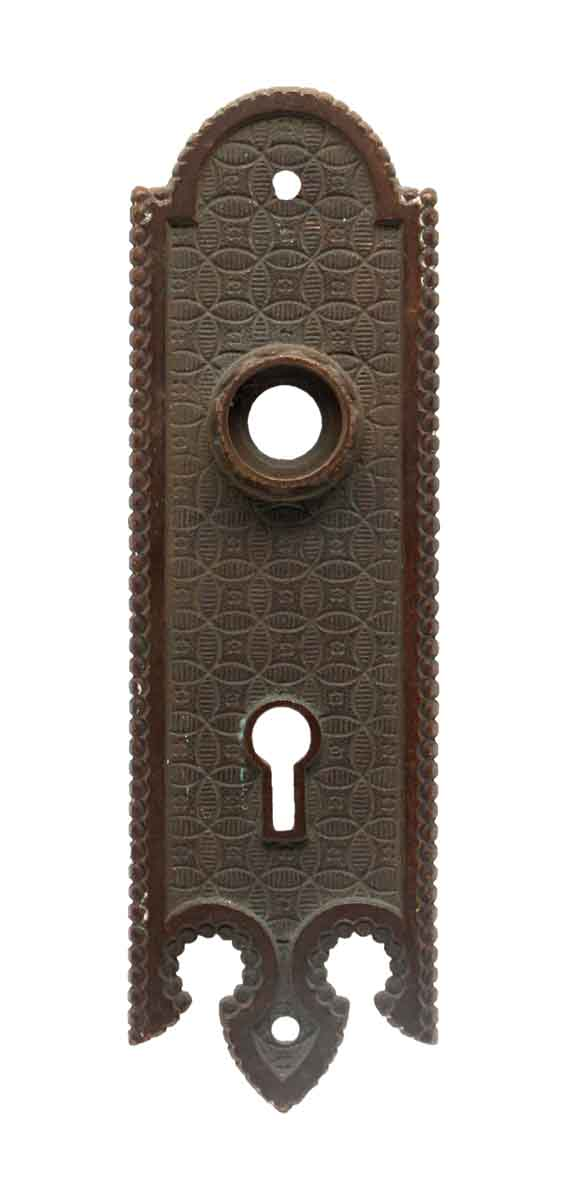 Back Plates - Gothic 5.75 in. Small Bronze Keyhole Door Back Plate