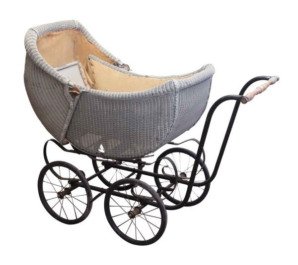 Children's Items - Antique Wicker Baby Carriage