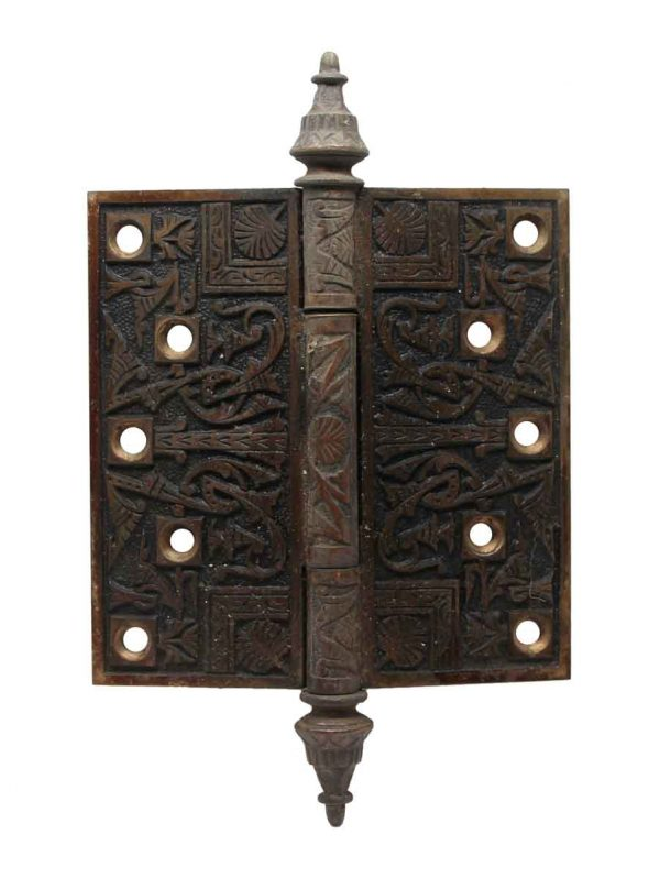 Door Hinges - 5 x 5 Antique Patina Bronze Door Hinge