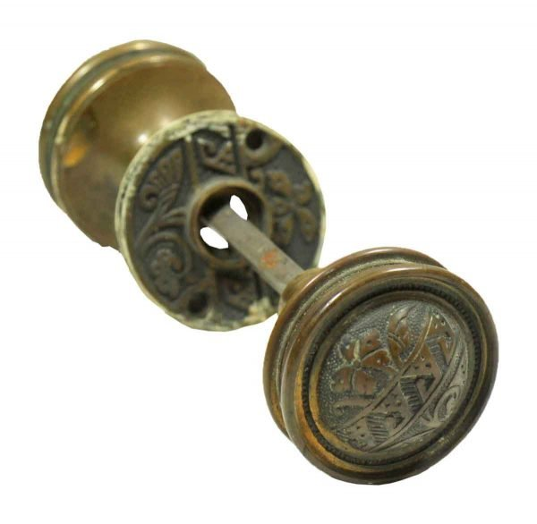 Door Knob Sets - Antique Asymmetric Corbin Vernacular Door Knob