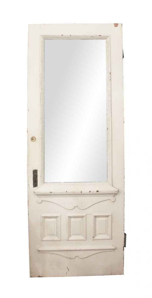 Entry Doors - White Oak & Glass Entry Door with Carved Detail