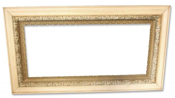 Frames - Ornate Antique Off White Picture Frame