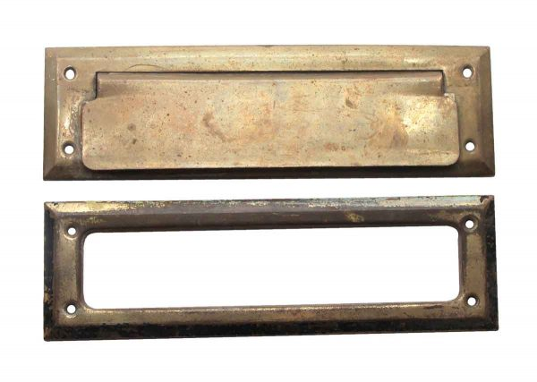 Mail Hardware - Brass Vintage Mail Slot Set