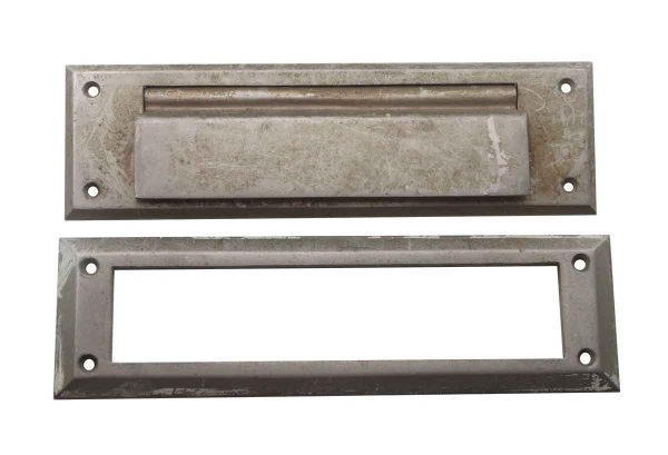 Mail Hardware - Nickel Plated Cast Brass Mail Slot Set