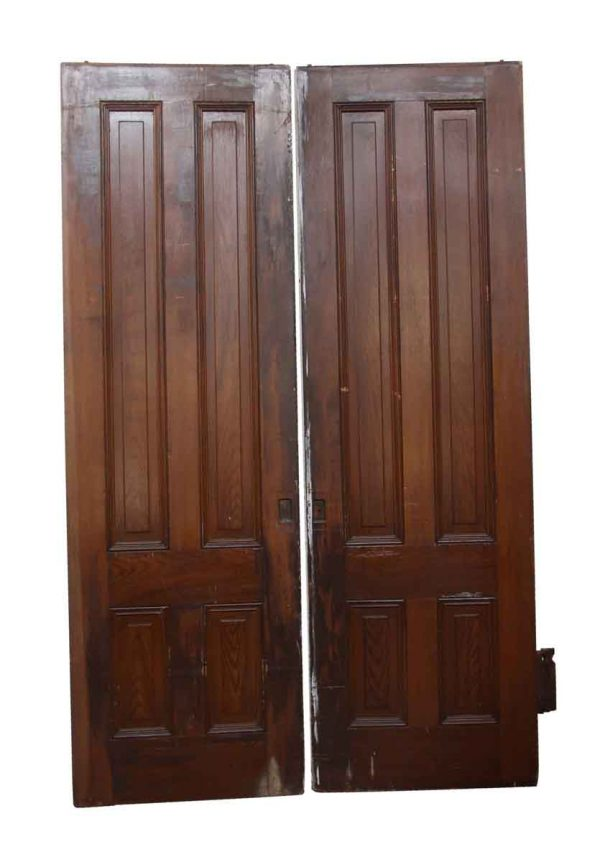 Pocket Doors - Pair of Wooden Vertical Panel Pocket Doors