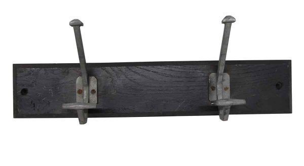 Racks - European Black Wood Plank with 2 Aluminum Hooks