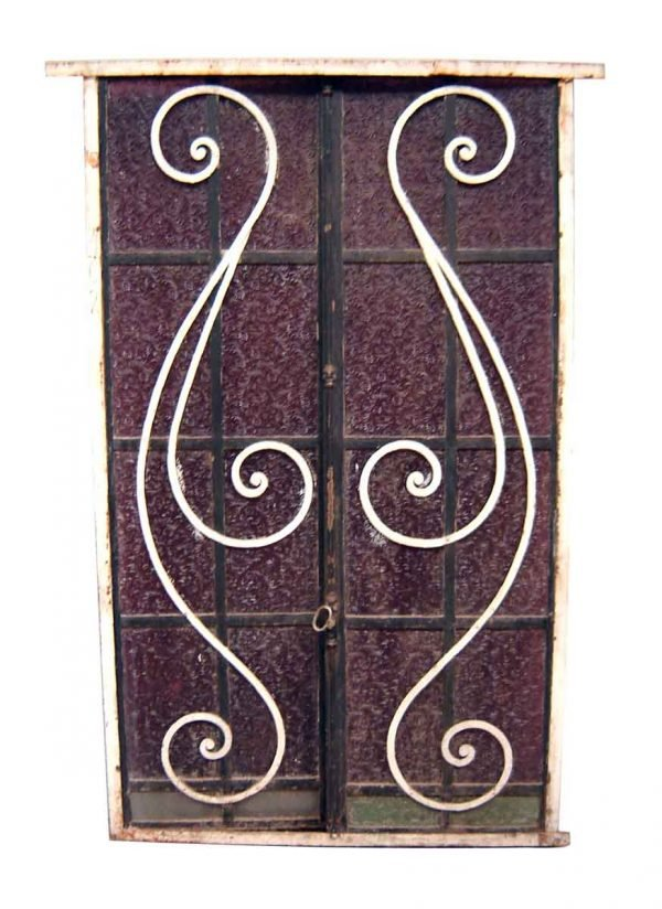 Stained Glass - Purple Stained & Textured Glass Windows