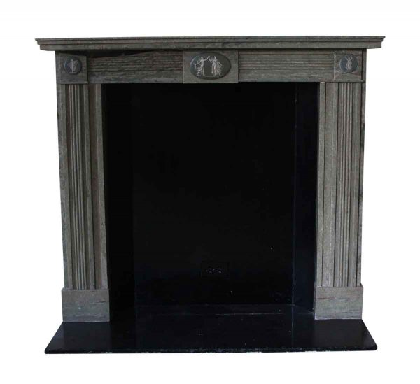 Waldorf Astoria - Waldorf Astoria Gray English Regency Marble Mantel