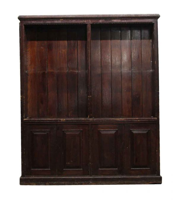 Bookcases - Antique Extra Large Wooden Bookcase
