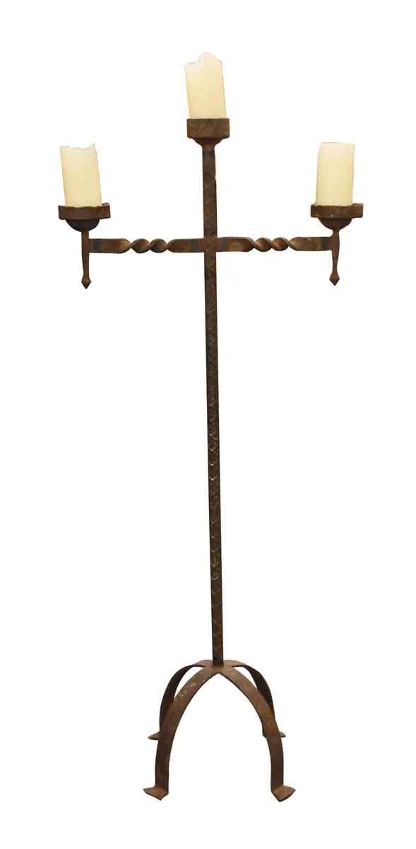 Candle Holders - Antique Wrought Iron Candle Stand