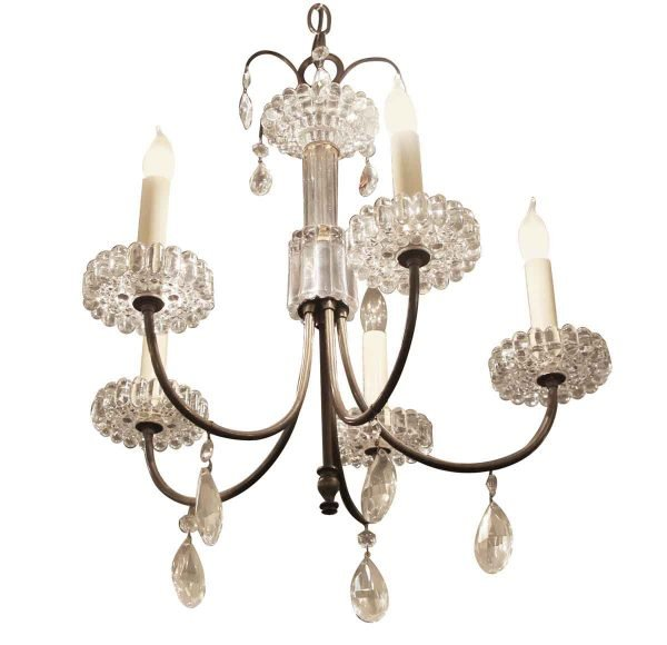 Chandeliers - Vintage Crystal 5 Arm Chandelier