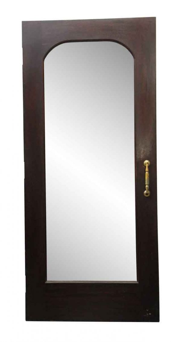 Commercial Doors - Wooden Door with an Arched Beveled Glass Center