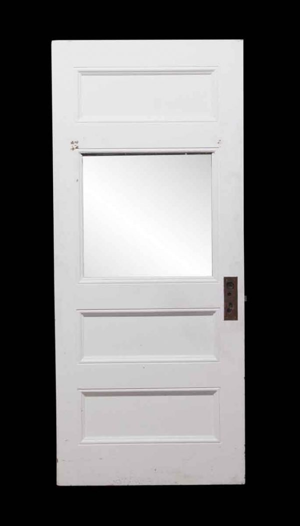 Entry Doors - White Door with Large Center Glass Panel